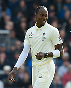 Jofra Archer of England during the International Test Match 2019, fourth test, day two match between England and Australia at Old Trafford, Manchester, England on 5 September 2019.