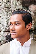 Mack, a Bensley Colelction Butler at temples at the Angkor Archeological Park