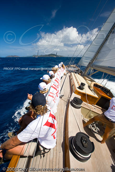 W Class Wild Horses racing at the St. Barth Bucket.