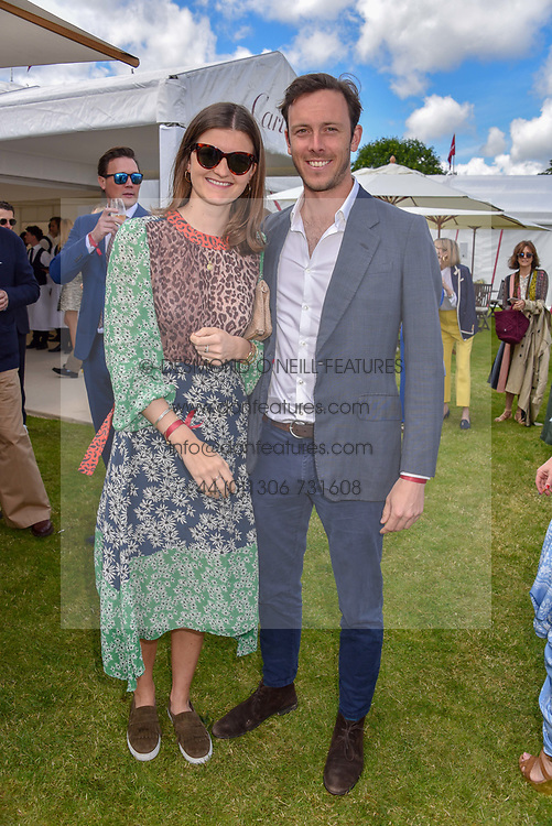 Louisa Wentworth-Stanley and Ludo de Ferranti at the Cartier Queen's Cup Polo 2019 held at Guards Polo Club, Windsor, Berkshire. UK 16 June 2019. <br /> <br /> Photo by Dominic O'Neill/Desmond O'Neill Features Ltd.  +44(0)7092 235465  www.donfeatures.com