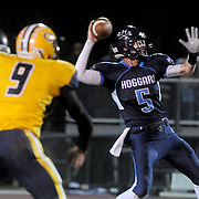 Austin Schoenleber passes against Cape Fear Friday November 21, 2014 at Hoggard High School in Wilmington, N.C. (Jason A. Frizzelle)
