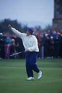 Laura Davies<br /> The second Solheim Cup golf match took place from 2 October to 4 October 1992 at Dalmahoy Country Club, Edinburgh, Scotland. The European team beat the United States team 11&frac12; points to 6&frac12;, to win the trophy for the first time<br /> <br /> Picture Credit:  Mark Newcombe / www.visionsingolf.com