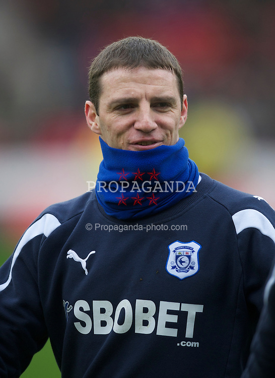 NOTTINGHAM, ENGLAND - Saturday, February 19, 2011: Cardiff City's Jason Koumas before the Football League Championship match against Nottingham Forest at the City Ground. (Photo by David Rawcliffe/Propaganda)