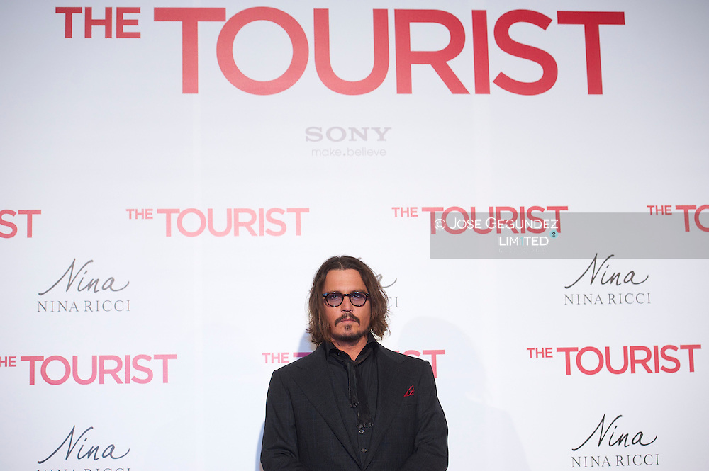 Johnny Depp attends 'The Tourist premiere at Palacio de los Deportes on December 16, 2010 in Madrid, Spain