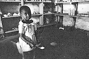 LOKICHOGGIO, KENYA - JANUARY 15, 2008: Portrait of a Kenyan child.