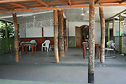 South Pacific, Samoa, Upolu Island Apia hand carved wooden columns