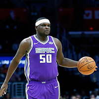 12 October 2017: Sacramento Kings forward Zach Randolph (50) brings the ball up court during the LA Clippers 104-87 victory over the Sacramento Kings, at the Staples Center, Los Angeles, California, USA.