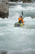 Whitewater kayaking on the Skykomish River, Washington