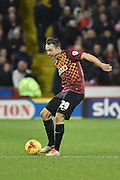 Bradford City defender Anthony McMahon taps ball on  during the Sky Bet League 1 match between Sheffield Utd and Bradford City at Bramall Lane, Sheffield, England on 28 December 2015. Photo by Ian Lyall.