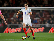 Dael Fry of England during the U21 UEFA EURO first qualifying round match between England and Scotland at the Riverside Stadium, Middlesbrough, England on 6 October 2017. Photo by Paul Thompson.