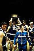 Europei Francia 1983 - Nantes: Carlo Caglieris, Renzo Vecchiato, Alessandro Galleani medaglia d'oro