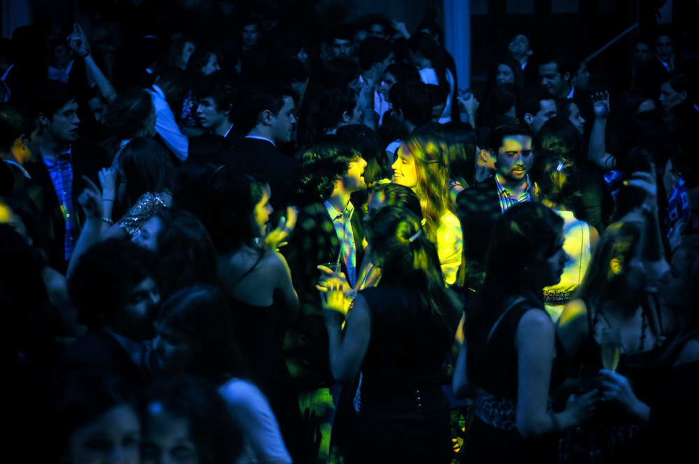 """Members dance at a party at the Caracas Country Club. """"People here are wealthy, very wealthy,"""" said Manuel Fuentes, Vice President of club.  """"We live very well here."""""""