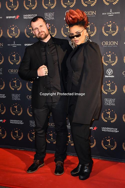 Eva Simons arrivers at Gold Movie Awards at Regents Street Theatre, on 9th January 2020, London, UK.