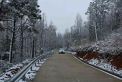 February 5, 2018 - Fuzhou, Fuzhou, China - Fuzhou,CHINA-5th February 2018: Snow scenery of Malan Mountain in Fuzhou, southeast China's Fujian Province. (Credit Image: © SIPA Asia via ZUMA Wire)