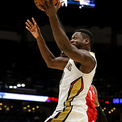 Oct 11, 2018; New Orleans, LA, USA; New Orleans Pelicans forward Julius Randle (30) against the Toronto Raptors during the first half at the Smoothie King Center. Mandatory Credit: Derick E. Hingle-USA TODAY Sports