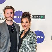 NLD/Amsterdam/20170328 - Uitreiking Tv Beelden 2017, Eva van de Wijdeven en partner Bram van der Heijden