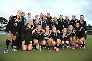 Black Sticks Women pose for a team photo after the match. Black Sticks Women vs Australia, Ford Trans-Tasman Trophy test series, Lloyd Elsmore Hockey Stadium, Auckland, New Zealand. 20 November 2016. © Copyright Image: www.photosport.nz