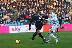 "Foto Filippo Rubin<br /> 01/12/2018 Ferrara (Italia)<br /> Sport Calcio<br /> Spal - Empoli - Campionato di calcio Serie A 2018/2019 - Stadio ""Paolo Mazza""<br /> Nella foto: GOAL EMPOLI FRANCESCO CAPUTO (EMPOLI)<br /> <br /> Photo Filippo Rubin<br /> December 01, 2018 Ferrara (Italy)<br /> Sport Soccer<br /> Spal vs Empoli - Italian Football Championship League A 2018/2019 - ""Paolo Mazza"" Stadium <br /> In the pic: GOAL EMPOLI FRANCESCO CAPUTO (EMPOLI)"