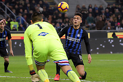 February 17, 2019 - Milan, Milan, Italy - MILAN, ITALY - FEBRUARY 17: Lautaro Martinez #10 of FC Internazionale Milano in action during the serie A match between FC Internazionale and UC Sampdoria at Stadio Giuseppe Meazza on February 17, 2019 in Milan, Italy. (Credit Image: © Giuseppe Cottini/NurPhoto via ZUMA Press)