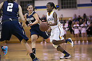 Miyah Sizer of Brighton drives to the basket during a game against Pittsford Sutherland at Brighton High School on Thursday, January 21, 2016.
