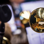 NLD/Hilversum/20130930 - Repetitie Metropole Orkest voor concert, trompetisten