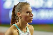 Renée Eykens (Belgium), before the Women's 800m during the IAAF Diamond League event at the King Baudouin Stadium, Brussels, Belgium on 6 September 2019.