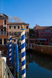 Boat poles in Venice, Italy / Italia December 4, 2007.