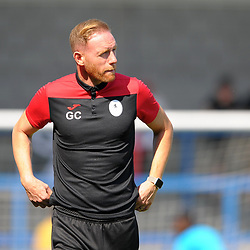 TELFORD COPYRIGHT MIKE SHERIDAN Gavin Cowan during the National League North fixture between AFC Telford United and Leamington AFC at the New Bucks Head on Monday, August 26, 2019<br /> <br /> Picture credit: Mike Sheridan<br /> <br /> MS201920-005