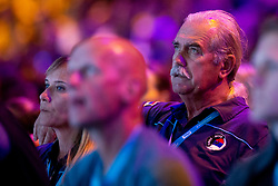 Parents of Stasa Gejo (Serbia) during Women's bouldering semifinal at the IFSC Climbing World Championships Innsbruck 2018, on September 14, 2018 in OlympiaWorld Innsbruck, Austria, Slovenia. Photo by Urban Urbanc / Sportida