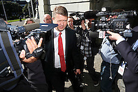 FORMER LABOUR LEADER DAVID CUNLIFFE ARRIVES AT PARLIAMENT, WELLINGTON