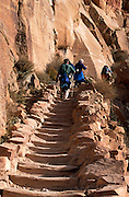 Steeper sections of trail feature stairs, South Kaibab Trail, Grand Canyon National Park, Arizona..Subject photograph(s) are copyright Edward McCain. All rights are reserved except those specifically granted by Edward McCain in writing prior to publication...McCain Photography.211 S 4th Avenue.Tucson, AZ 85701-2103.(520) 623-1998.mobile: (520) 990-0999.fax: (520) 623-1190.http://www.mccainphoto.com.edward@mccainphoto.com..