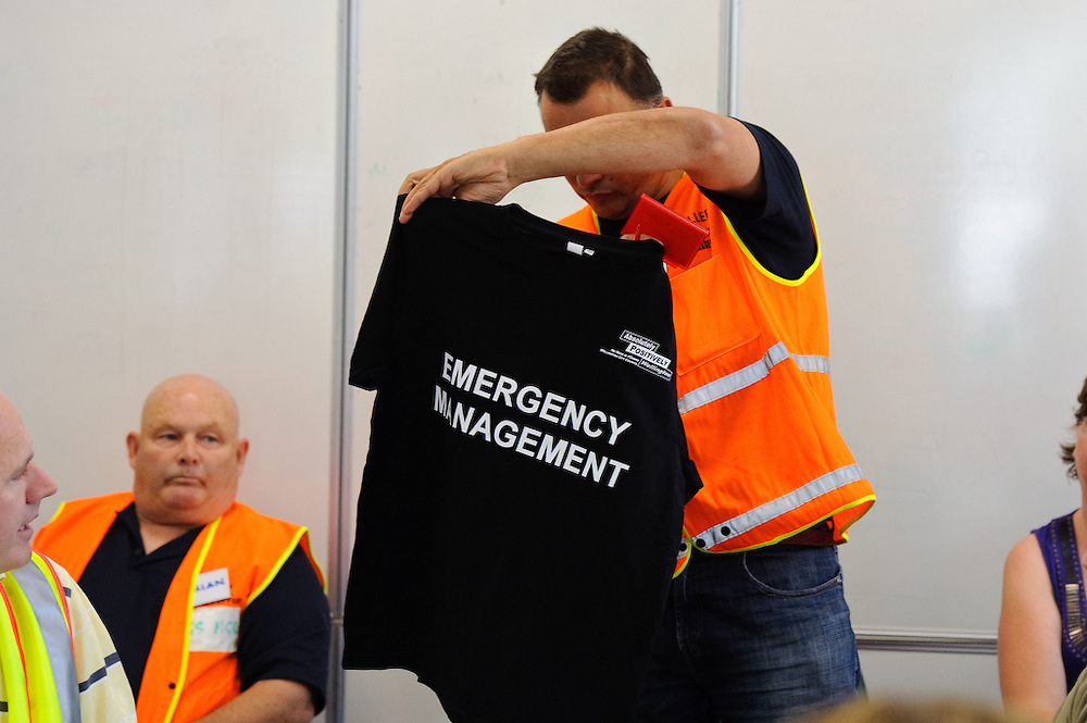 Volunteers preparing for and getting briefed to travel to Christchurch following  the February 2011 earthquake. Wellington Emergency Management headquarters, February 26, 2011.<br /> <br /> Photos by Mark Tantrum, all rights reserved. www.marktantrum.com