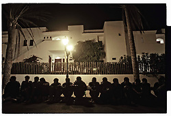 Fuerteveuntura, Canary Islands, Spain.Sub-Saharan immigrants rest, after they arrived by boat from Morocco, in the Spanish Canary Island of Fuerteventura, Spain. Thousands of African immigrants try to make the journey to Europe each year as illegal migrants looking for a better live.©Carmen Secanella