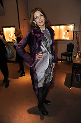 KIM ROBSON-ORTIZ at a party to celebrate the publication of Nathalie von Bismarck's book 'Invisible' held at Asprey, 167 New Bond Street, London on 9th December 2010.