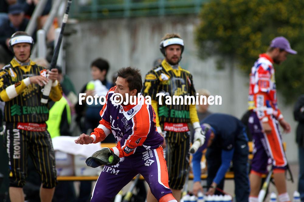 05.09.2009, Kouvola..Superpesis 2009, 1. loppuottelu.Kouvolan Pallonly?j?t - Sotkamon Jymy.Mikko Lahtinen - Sotkamo.©Juha Tamminen.