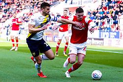 John Mousinho of Oxford United chases down Jake Hastie of Rotherham United - Mandatory by-line: Ryan Crockett/JMP - 19/10/2019 - FOOTBALL - Aesseal New York Stadium - Rotherham, England - Rotherham United v Oxford United - Sky Bet League One