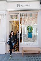 Mouki Mou shop, 29 Chiltern Street, Marylebone, London. Created by Maria Lemos.