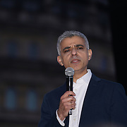 Speaker Sadiq Khan attends The Salesman, Trafalgar Square,London,UK. by See Li
