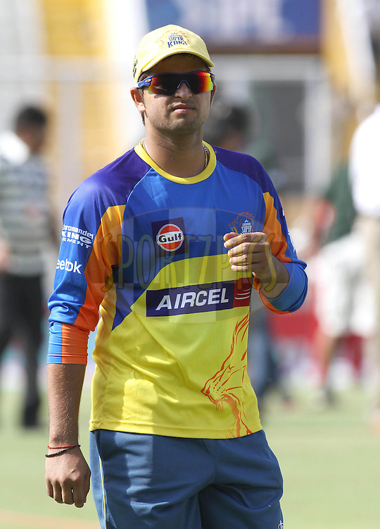 Suresh Raina of the Chennai Super Kings during match 9 of the Indian Premier League ( IPL ) Season 4 between the Kings XI Punjab and the Chennai Super Kings held at the PCA stadium in Mohali, Chandigarh, India on the 13th April 2011..Photo by Shaun Roy/BCCI/SPORTZPICS