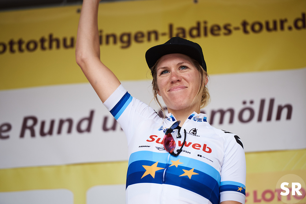 Stage winner, Ellen van Dijk (NED) at Lotto Thuringen Ladies Tour 2018 - Stage 7, an 18.7 km time trial starting and finishing in Schmölln, Germany on June 3, 2018. Photo by Sean Robinson/velofocus.com