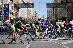 Peloton navigate the hairpin on Gran Via at Madrid Challenge by la Vuelta 2017 - a 87 km road race on September 10, 2017, in Madrid, Spain. (Photo by Sean Robinson/Velofocus.com)