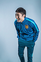 Portrait of Chinese soccer player Yang Boyu of Jiangsu Suning F.C. for the 2017 Chinese Football Association Super League, in Nanjing city, east China's Jiangsu province, 27 February 2017.