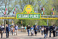 Guests enter Sesame Place for a Variety Club event Sunday April 24, 2016 in Langhorne, Pennsylvania. Sesame Place opens for the season April 30, 2016. (Photo by William Thomas Cain)