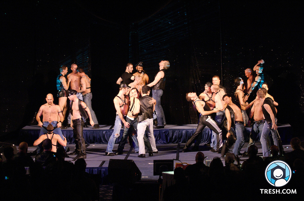 The D.C. Cowboys dance troupe at the Mr. Mid-Atlantic Leather Contest 2007