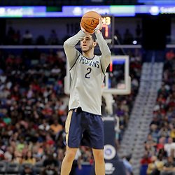 Oct 5, 2019; New Orleans, LA, USA; New Orleans Pelicans guard Lonzo Ball (2) shoots during a open practice at the Smoothie King Center. Mandatory Credit: Derick E. Hingle-USA TODAY Sports