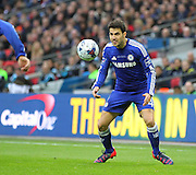 Chelsea's Cesc Fàbregas during the Capital One Cup Final between Chelsea and Tottenham Hotspur at Wembley Stadium, London, England on 1 March 2015. Photo by Phil Duncan.