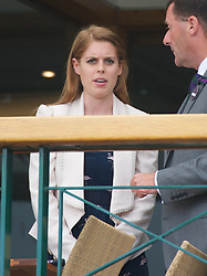 28.06.2011, Wimbledon, London, GBR, WTA Tour, Wimbledon Tennis Championships, im Bild .Beatrice Elizabeth Mary Windsor, Princess Beatrice of York, looks out from the balcony of the Centre Court Clubhouse on day eight of the Wimbledon Lawn Tennis Championships at the All England Lawn Tennis and Croquet Club. EXPA Pictures © 2011, PhotoCredit: EXPA/ Propaganda/ David Rawcliffe +++++ ATTENTION - OUT OF ENGLAND/UK +++++ // SPORTIDA PHOTO AGENCY