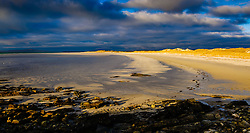 Sunset on a beach in North Uist, Outer Hebrides, Scotland<br /> <br /> (c) Andrew Wilson | Edinburgh Elite media