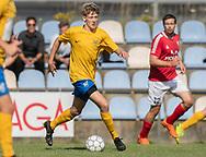 Magnus Pedersen (Ølstykke FC) under kampen i Serie 2 mellem Ølstykke FC og Ejby IF den 7. september 2019 på Ølstykke Stadion. Foto: Claus Birch.