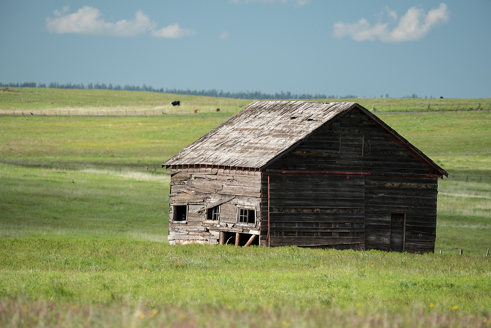 Old barn on Oregon's Zumwalt Prairie.